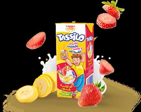 Tassili Tassilo Boisson au lait Fraise Banane