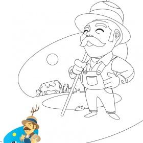 Tassili jeu de coloriage